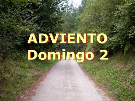 ADVIENTO Domingo 2.
