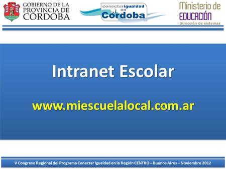 Intranet Escolar www.miescuelalocal.com.ar.