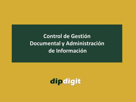 Documental y Administración