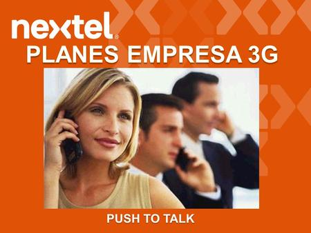 PLANES EMPRESA 3G PUSH TO TALK.