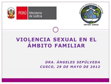 Violencia sexual en el ámbito familiar