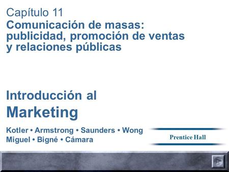 Marketing Introducción al Capítulo 11
