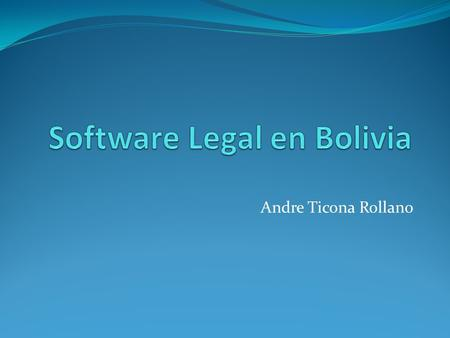 Software Legal en Bolivia