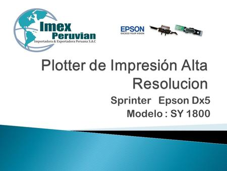 Plotter de Impresión Alta Resolucion