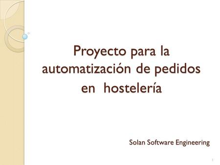 Solan Software Engineering