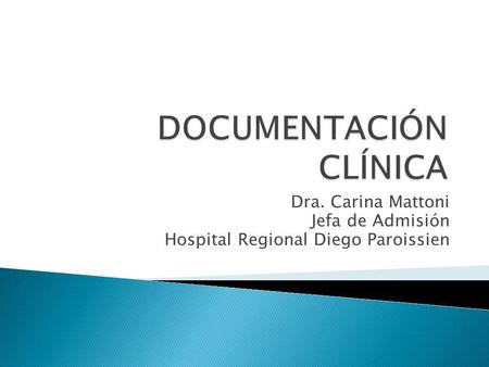 DOCUMENTACIÓN CLÍNICA