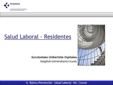 Salud Laboral - Residentes