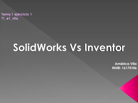 SolidWorks Vs Inventor