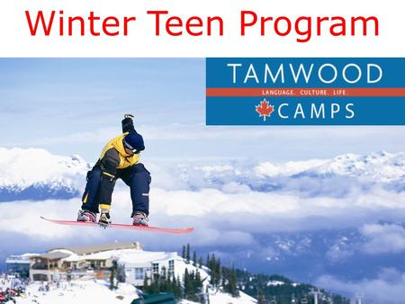 Winter Teen Program.