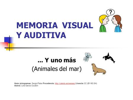 MEMORIA VISUAL Y AUDITIVA