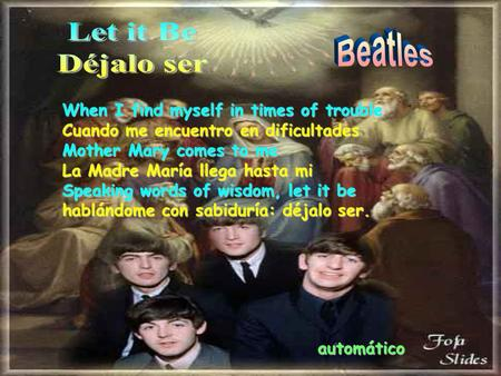 Let it Be Beatles Déjalo ser