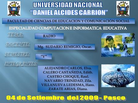 "UNIVERSIDAD NACIONAL ""DANIEL ALCIDES CARRION"""