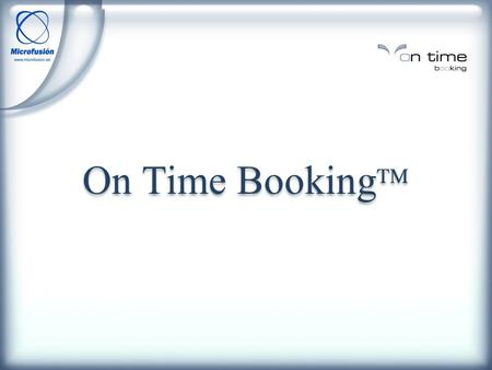 On Time Booking.