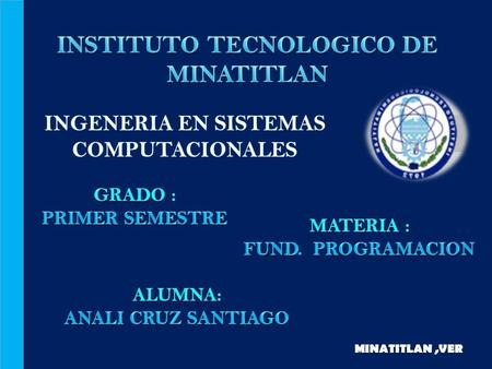 INSTITUTO TECNOLOGICO DE MINATITLAN
