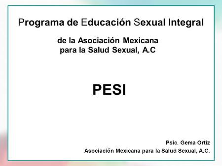 Programa de Educación Sexual Integral
