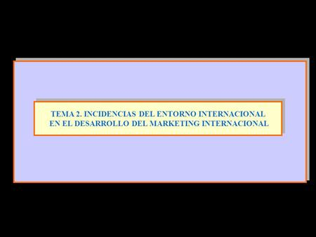 TEMA 2. INCIDENCIAS DEL ENTORNO INTERNACIONAL