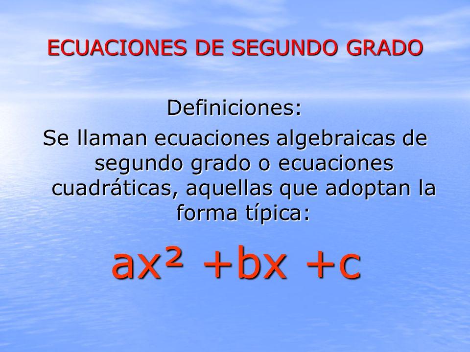 Ecuaciones De Segundo Grado Ppt Video Online Descargar