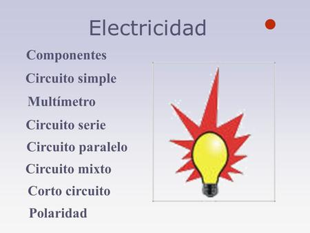 Circuito Electrico Simple Dibujo : Electricidad componentes de un circuito eléctrico ppt video