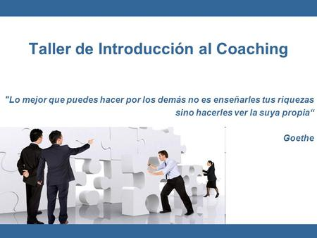 Taller de Introducción al Coaching