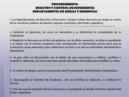 REGISTRO Y CONTROL DE EXPEDIENTES