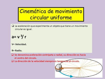 Cinemática de movimiento circular uniforme