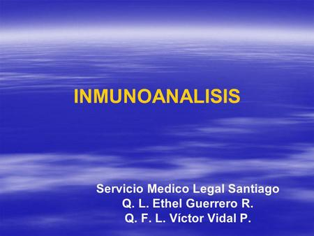 Servicio Medico Legal Santiago