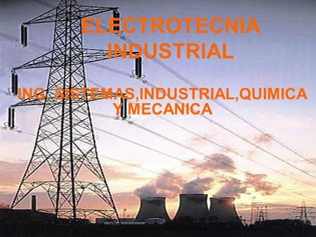 ELECTROTECNIA INDUSTRIAL