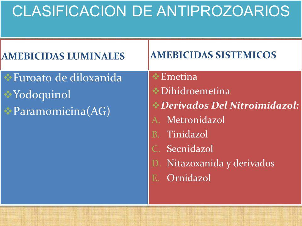 oxiuros tratamiento tinidazol)
