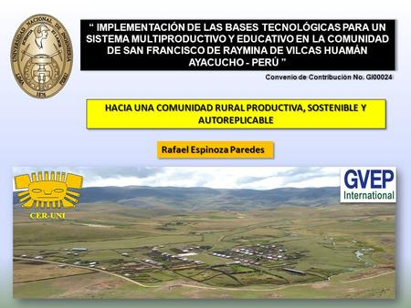 HACIA UNA COMUNIDAD RURAL PRODUCTIVA, SOSTENIBLE Y AUTOREPLICABLE