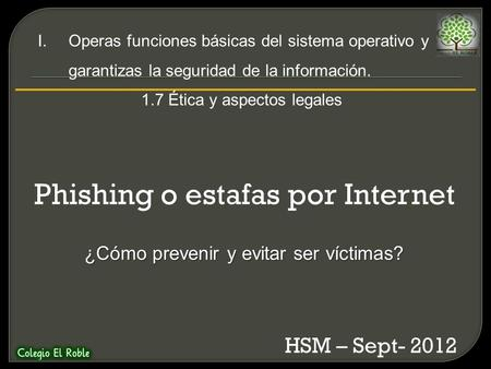 Phishing o estafas por Internet