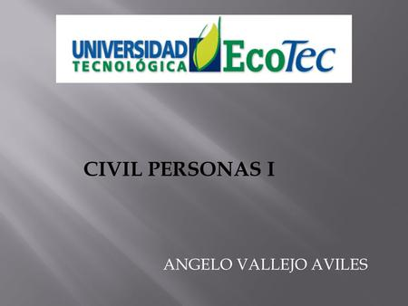 CIVIL PERSONAS I ANGELO VALLEJO AVILES.