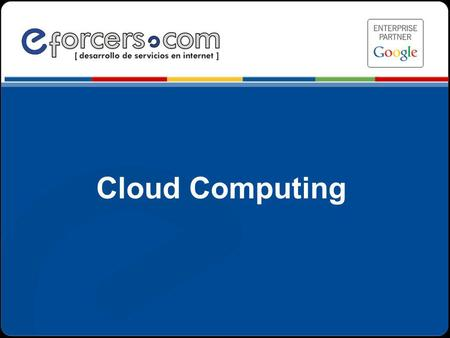 Cloud Computing .