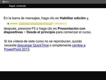 en la barra de mensajes haga clic en habilitar edición ppt descargar