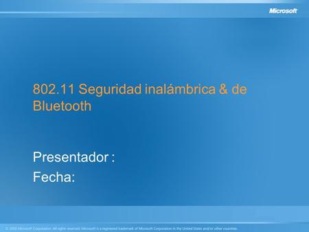 Seguridad inalámbrica & de Bluetooth