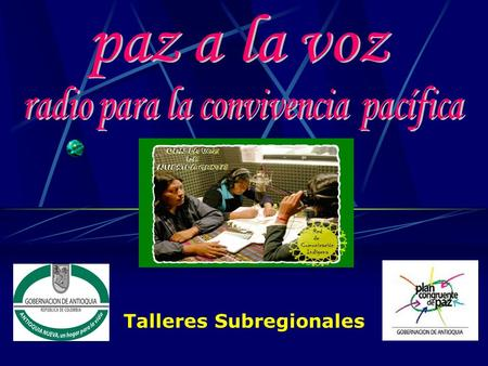Talleres Subregionales