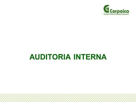 AUDITORIA INTERNA.