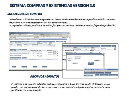 SISTEMA COMPRAS Y EXISTENCIAS VERSION 2.0