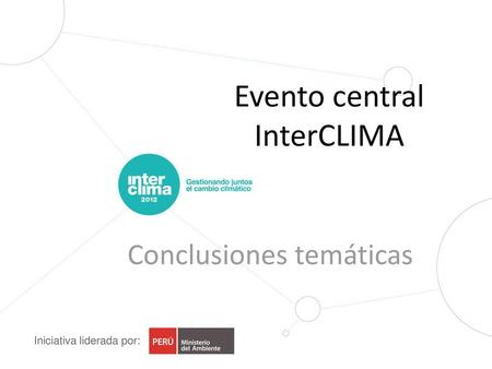 Evento central InterCLIMA