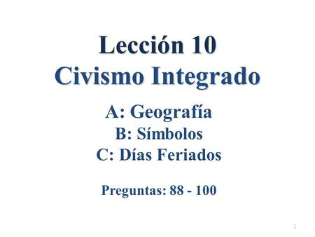 Lección 10 Civismo Integrado