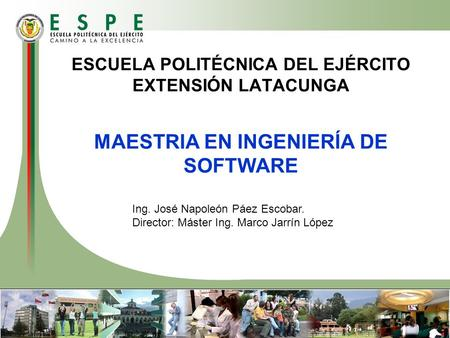 MAESTRIA EN INGENIERÍA DE SOFTWARE