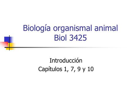 Biología organismal animal Biol 3425