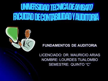 FUNDAMENTOS DE AUDITORIA