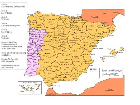 PORTUGAL SPAIN Spain and Portugal FRANCE ALGERIA Slide 1
