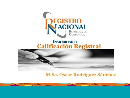 Calificación Registral