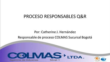 PROCESO RESPONSABLES Q&R