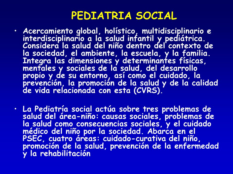 PEDIATRIA SOCIAL