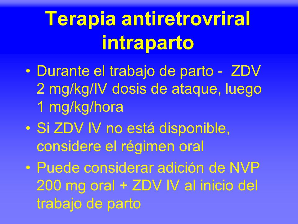 Terapia antiretrovriral intraparto