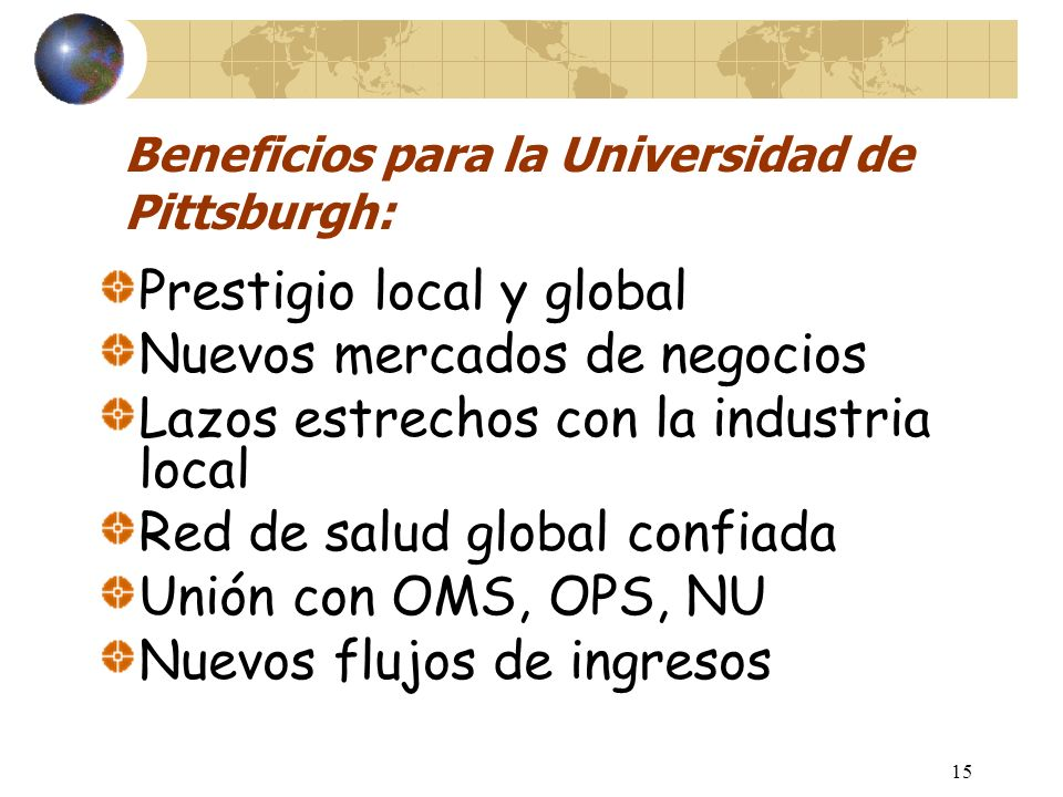 Conexiones internacionales Pit Global: