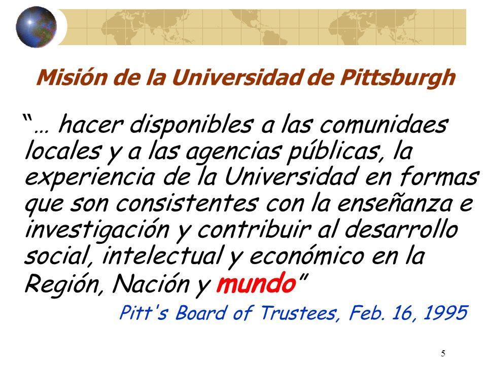 Pit global: Un Centro de Salud Global interdisciplinario