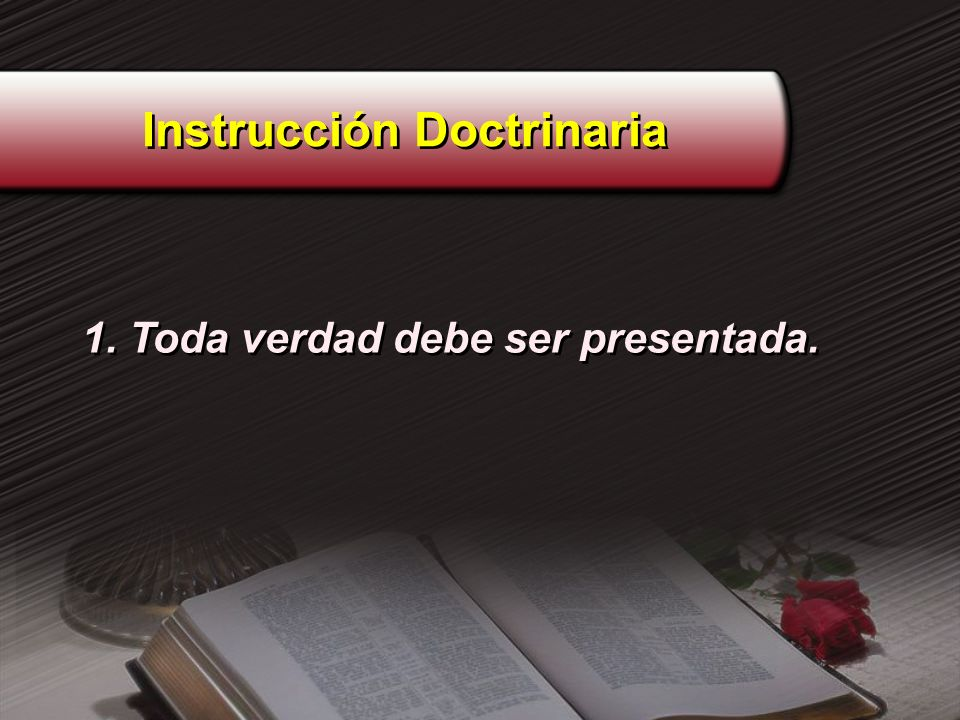 Instrucción Doctrinaria